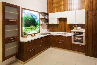 Угловая кухня Лигнум витае